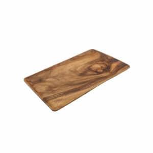 """פלטה מלבנית עץ להגשה CutterPeeler. גודל - 50X30 ס""""מ. פלטה עץ איכותית להגשה."""