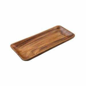 """פלטה מלבנית עץ CutterPeeler. גודל - 36X15 ס""""מ. פלטה מלבנית עץ איכותית להגשה."""