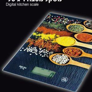 משקל מטבח דיגיטלי מעוצב כפות תבלין מזכוכית מחוסמת מבית KITCHEN