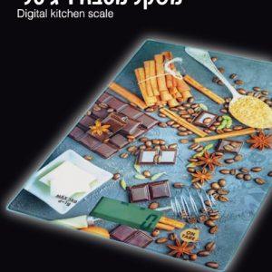 משקל מטבח דיגיטלי מעוצב שוקלד אניס מזכוכית מחוסמת מבית KITCHEN