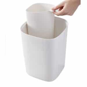 פח לשירותים SPLIT לבן אפור
